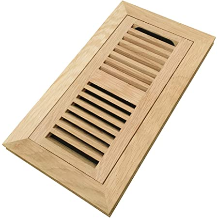 Welland 4x12 Inch Maple Wood Flush Mount With Frame Floor Register Vents Cover Grille Unfinished 3 4 In Thickness Home Improvement