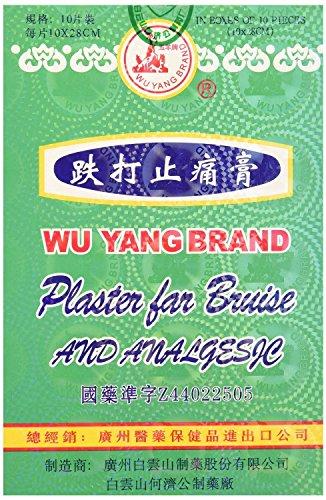 Wu Yang Brand Plaster for Bruise and Analgesic 10pcs (Hongkong Version)