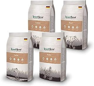 Venandi Animal Premium Trockenfutter für Katzen, Probierpaket Lamm, 4 x 1.5 kg, getreidefrei mit viel frischem Fleisch und Fisch, 6 kg