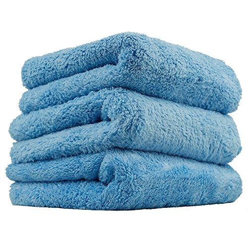 Chemical Guys MIC35003 Happy Ending Mikrofaser-Handtuch, kantenlos, blau, 40,6 cm x 40,6 cm, 3 Stück.