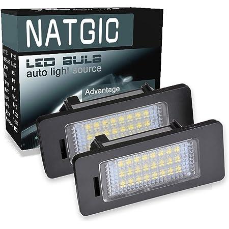 Biqing LED License Plate Light 24SMD Number Plate Lamp Assembly Rear Lamps with Error Free Resistor Fit For E82 E39 E90 E91 E92 E70