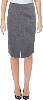 Hugo Boss BOSS Womens Valesana Wool Marled Pencil Skirt
