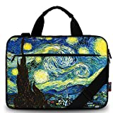 iColor 11.6-12 13 13.3-inch Laptop Shoulder-Bag - Canvas Computer Tablet Carrying Case 13-13.3 inch Notebook Briefcase (12' ~13.3', Starry Night)