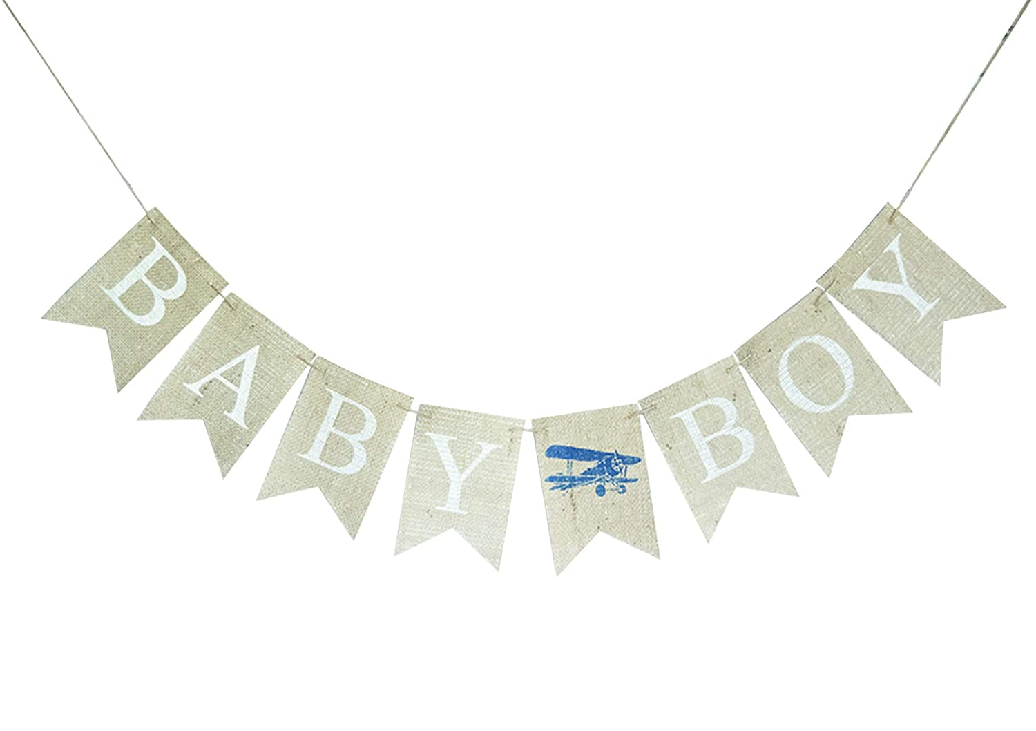 Baby Boy Plane Banner for Shower Reveal Ranking TOP11 Charlotte Mall Dec Party Gender or
