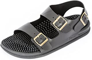 Revs Premium Acupressure & Reflexology Massage Trek Sandals for Men & Women. Shock Absorbing Cushion Sole with Orthotic Arch Support.