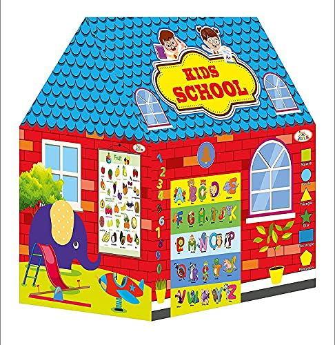 BK SALES Jumbo Size Extremely Light Weight , Water Proof Kids Play Tent School House for 3 to 13 Year Old Girls and Boys (School House)