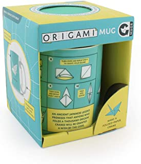 Ginger Fox Origami Mug - Relax with A Coffee & Learn Japanese Skill of Origami