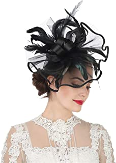 Lucky Leaf Women Girl Fascinators Hair Clip Hairpin Hat Feather Cocktail Wedding Tea Party Hat