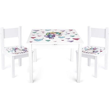 Hello Home Pj Maschere Bambini Set Tavolo E 2 Sedie Legno Multicolore Amazon It Casa E Cucina