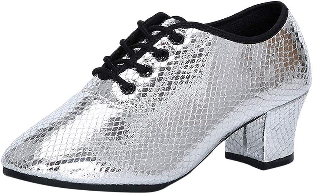 Womens Closed Toe Mid Heel Dance Shoes Dressy Fashion Prom Ballroom Latin Salsa Dance Shoes Sandals Walking Shoes