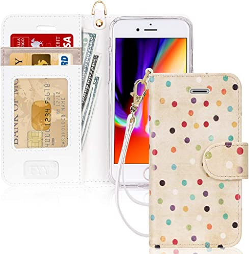 """FYY Case for iPhone 8/iPhone 7/iPhone SE 2020 4.7"""",[Kickstand Feature] Luxury PU Leather Wallet Case Flip Folio Cover..."""