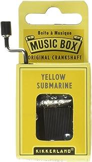 Kikkerland Yellow Submarine Crank Music Box