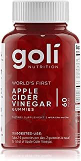 Apple Cider Vinegar Gummy Vitamins by Goli Nutrition - Immunity & Detox - (1 Pack, 60 Count, with...