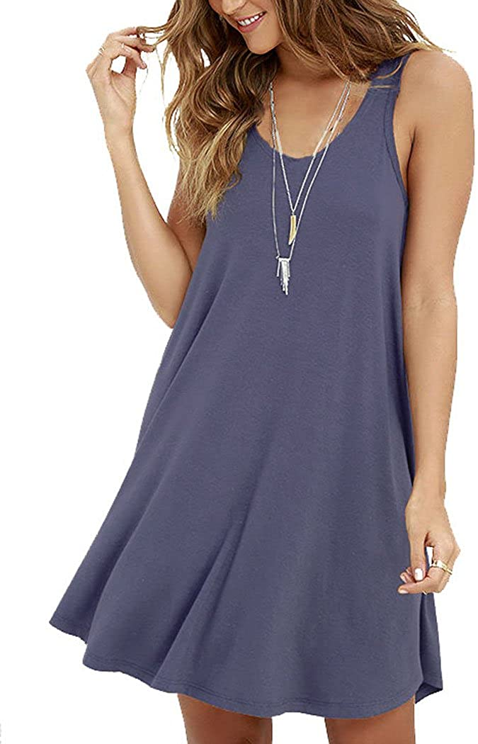 MOLERANI Women's Casual Swing T-Shirt Simple Discount is also underway Loose Oklahoma City Mall Dress