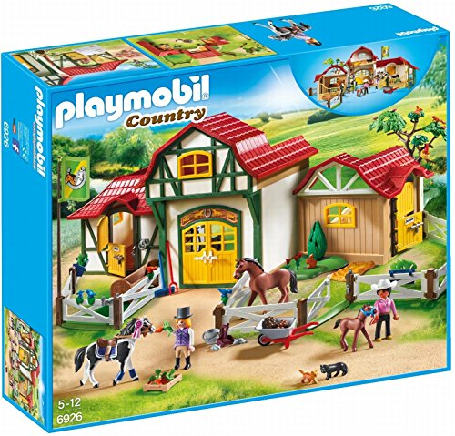 Playmobil- Country Payset, Granja de Caballos, Multicolor (6926)