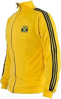 JL Sport Jamaican Flag Yellow Capoeira Zip-up Jacket Tracksuit Sweatshirt