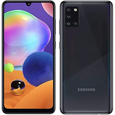 Samsung Galaxy A31 64GB / 4GB - A315G/DSL Unlocked Dual Sim Phone w/Quad Camera 48MP+8MP+5MP+5MP GSM International Version (Prism Crush Black)