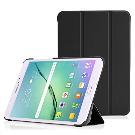 Moko Tab S2 8.0 Case - Slim Lightweight Smart-Shell Stand Cover Case With Auto Wake / Sleep For Samsung Galaxy Tab S2 / S2 Nook 8.0 Inch Tablet, Black