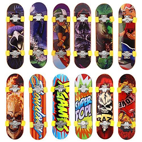 Kungfu Mall - Mini skateboard per dita, per bambini, giocattolo, 5 pezzi