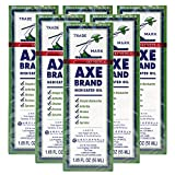 Axe Brand Medicated Oil (Muscle, Joint, and Backache Pain Relief) (1.89 fl oz) (6 Bottles) (Solstice)