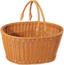 SWZJJ Simulated Rattan Woven Basket Shopping Basket Decorative Storage Vegetable Basket Flower Basket Picnic Basket Food S...
