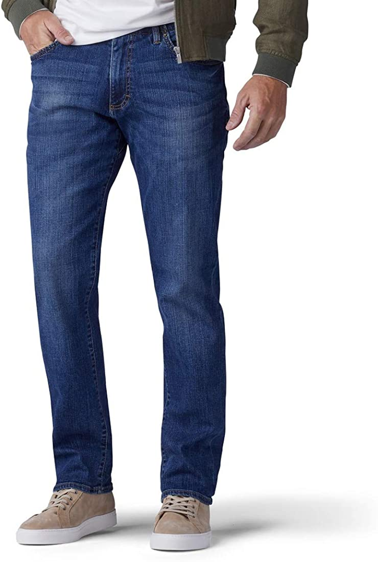 Lee Men's Big & Tall Performance Series Extreme Motion Straight Fit Tapered Leg Jean