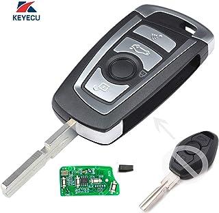 Keyecu EWS Modified Flip Remote Key 315MHZ ID44 1998-2005 for BMW 3 5 + 7 Series HU58