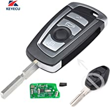 Keyecu EWS Modified Flip Remote Key 315MHZ ID44 1998-2005 for BMW 3 5 + 7 Series HU58
