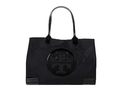 Tory Burch Ella Patent Tote (Black) Bags