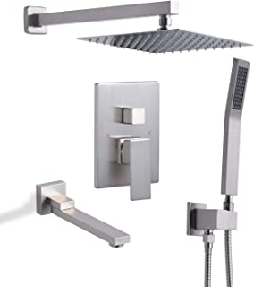 wall mounted waterfall shower head