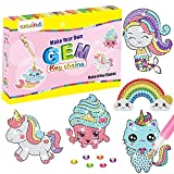 cxwind Gem Diamond Painting Kits for Kids Ages 6-12 - Make Your Own GEM Keychains - 5D Diamond Painting and Crafts Art for Girls Kids Toddler Pink