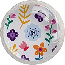 Set van 4 Crystal Glass knoppen Mooie Bloemen Dressoir Crystal Glass Knoppen Lade Knoppen Hardware voor Dressoirs Kasten N...
