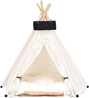 didatecar Tipi tält för husdjur hundsäng tält spets, hem och tält sällskapsdjur koja, tipi, lekhus för hundar, lektält hun...