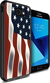 Galaxy J7 2017 Case American Flag,Gifun Slim Soft Black TPU Premium Flexible Protective Case for Galaxy J7 2017/J7 Prime/J7 V/J7 Perx/J7 Sky Pro/Galaxy Halo - American Flag Design