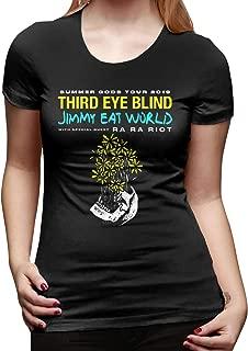 Women Third Eye Blind Tour 2019 Leisure T-Shirts Black with Women's Short Sleeve