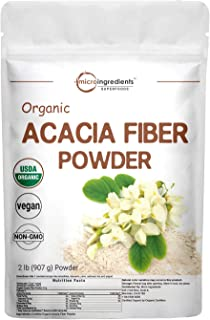 Micro Ingredients Organic Acacia Fiber Powder, 2 Pound (32 Ounce), Plant Based Prebiotic Superfood for Gut Health, Non-GMO...