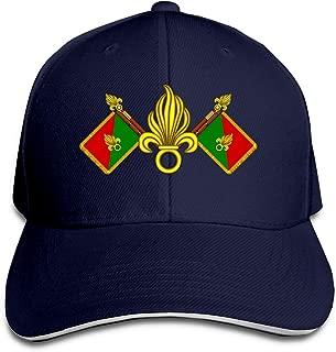 Adult French Foreign Legion Fanion Et Grenades Cotton Lightweight Adjustable Peaked Baseball Cap Sandwich Hat Men Women