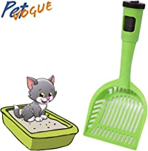 PetVogue Plastic Litter Scooper with 15 Poop Bags for Pet Cat (Green)