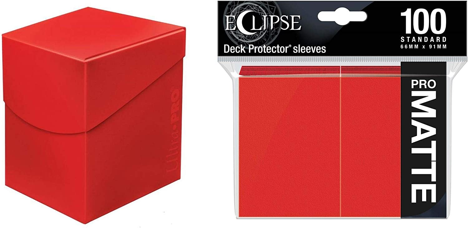 Eclipse Deck Box Apple Red and 100 Eclipse Matte Sleeves
