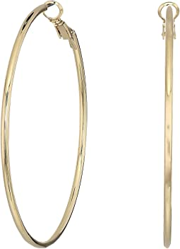 Kenneth Jay Lane - Small Gold Hoop Post Ear Earrings