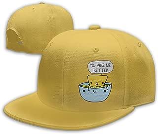 Aiguan Chip & Dip Funny Flat Visor Baseball Cap, Fashion Snapback Hat Navy