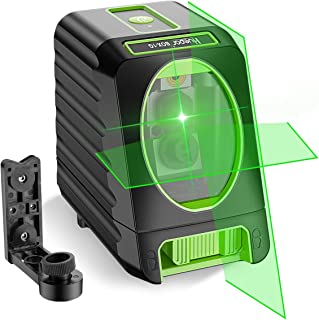 Self-leveling Laser Level - Huepar Box-1G 45m Outdoor Green Cross Line Laser Level with Vertical Beam Spread Covers of 15...