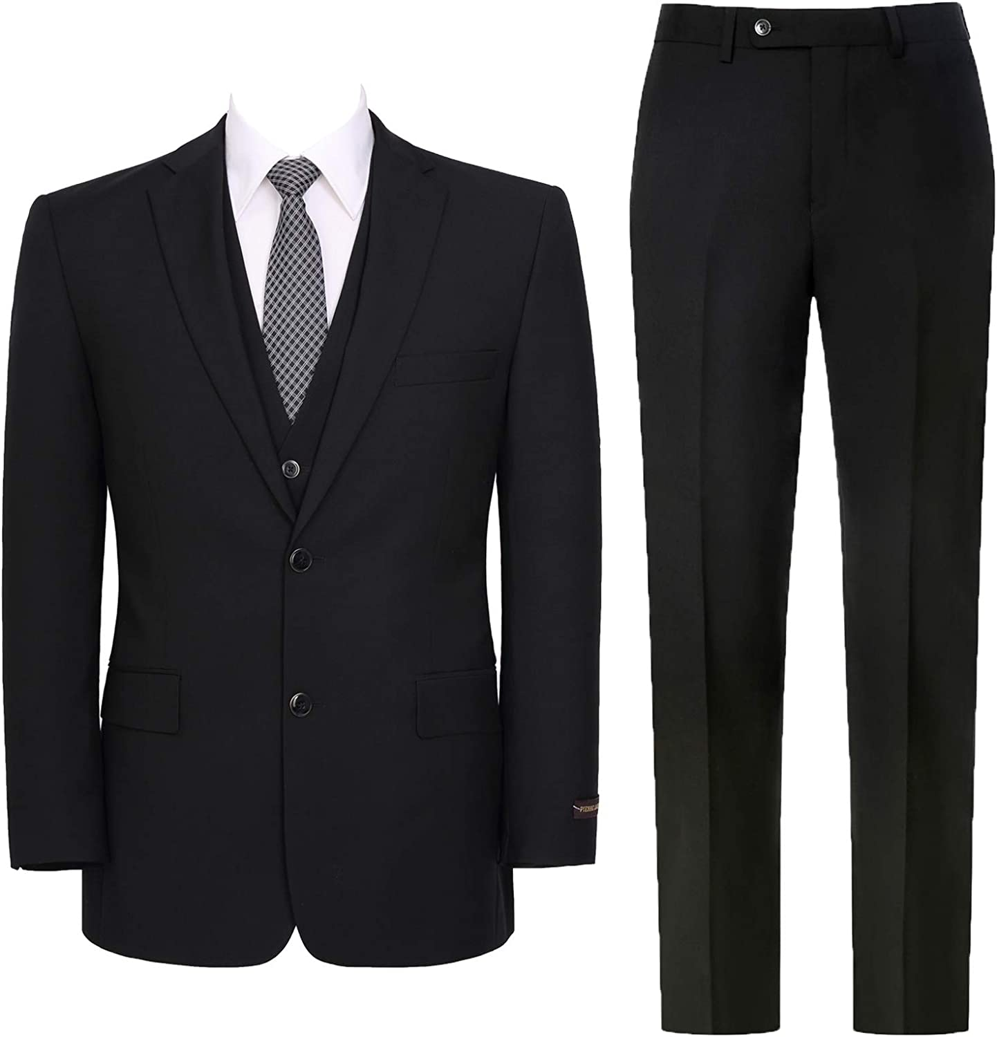 Pio We OFFer at cheap prices Lorenzo Men's 3-Piece Suit Hidden A surprise price is realized Waist Jacket Expandable