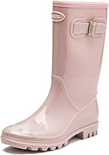 Women's Tall Rain Boots Waterproof Wellington Boots