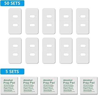 xydstay Vertical Blind Repair Tabs, Window Blinds Replacement slats, Repairs Broken Holes, Clear Vane Saver 50 Sets Tabs & 5 Alcohol Wipes