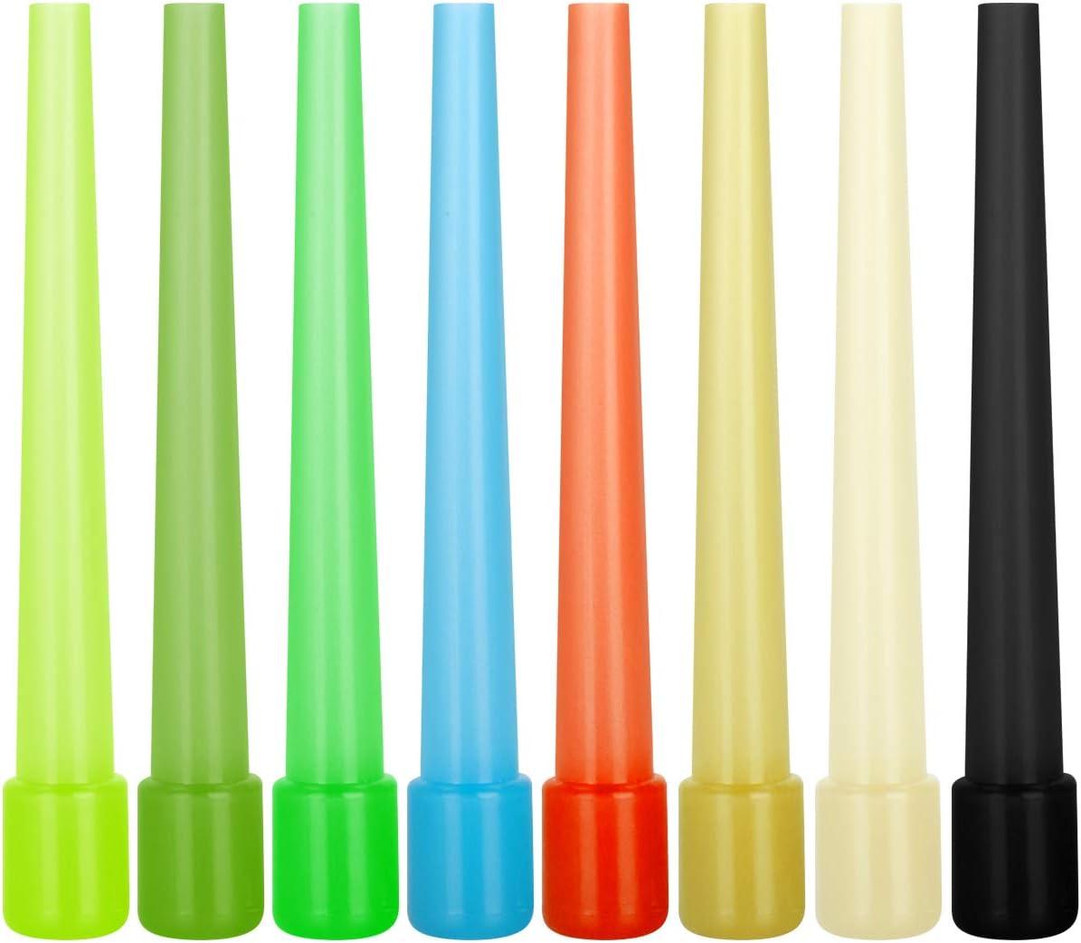 Maxee 100 boquillas para shisha (9 cm de color aleatorio), boquilla higiénica para shisha con puntas para cachimba, accesorios de alta calidad y embalaje higiénico, evita bacterias y virus