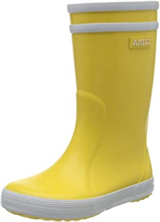 Aigle Lolly Pop Yellow Rubber Child Wellingtons Boots