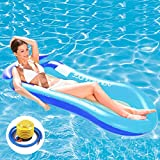EPROSMIN Inflatable Pool Float with Pump - Water Hammock Swimming Pool Floats Mesh Pool Floats for Adults,Kid,Lounge...