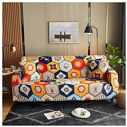 Tryckt Soffa Täcker Möbler Beskyddare Universal Fåtölj, Soffa Soffa Inte Glid Soft Soffa (1 St) (Color : Bohemia, Size : 181-230CM)