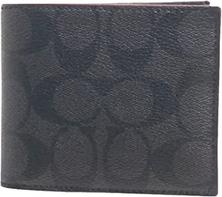 コーチ COACH 財布 折りたたみ財布 メンズ アウトレット PVCコーティングキャンバス×レザー シグネチャー 二つ折り ウォレット F25519 N3A シグネチャーブラック コーチ COACH メンズ
